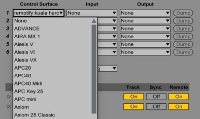 list of midi remote scripts contained in ableton