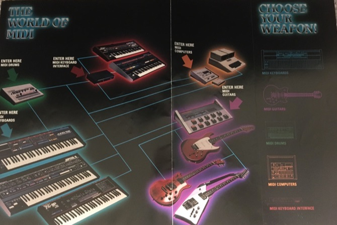 80s midi connection diagram