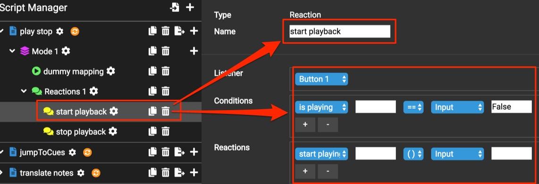 start playback reaction