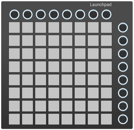 Novation Launchpad controller template