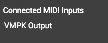 Connected MIDI Inputs